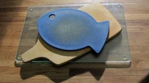 Kunststoff, Holz und Glasschneidbretter